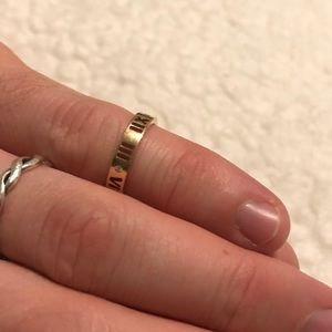 Authentic Tiffany & Co. Atlas ROSE gold ring sz 5